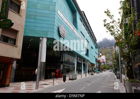 illa on avenue carlemany shopping centre in andorra la vella andorra - Stock Photo