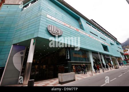 illa carlemany shopping centre in andorra la vella andorra - Stock Photo
