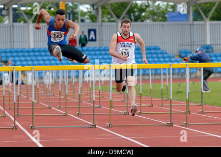 Manchester, UK. 22 June 2013. Sportcity Manchester, UK  22nd June 2013. Northern Athletics Championships. Curtis - Stock Photo