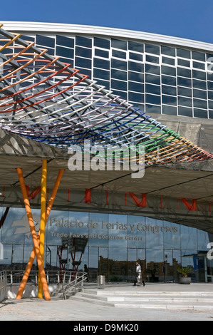 Trade Fairs and Congress Center, Malaga, Region of Andalusia, Spain, Europe - Stock Photo