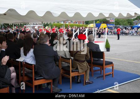 Preston UK, 22 June 2013. Spectators at the Preston Military Show at Fulwood Barracks, Preston, Lancashire .   Servicemen - Stock Photo