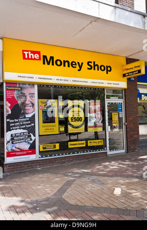 Payday loan businesses are increasing on the High Street in the UK.  'The Money Shop' is one of several offering - Stock Photo
