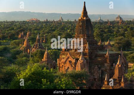 the Temples of Bagan, Myanmar (Burma) - Stock Photo