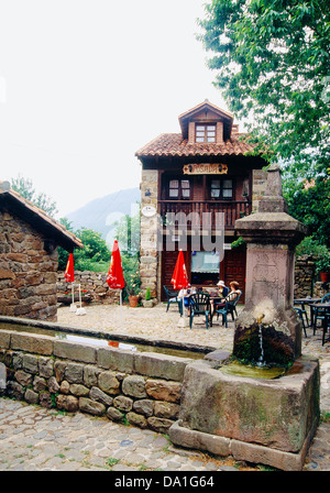 Rural tourism in Barcena Mayor. Cantabria, Spain. - Stock Photo