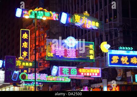 Billboards in Hong Kong - Stock Photo