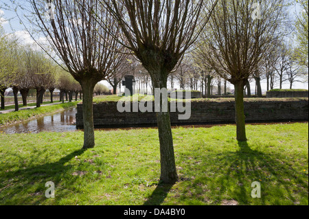 Langemark German War Cemetery, Flanders, Belgium. - Stock Photo
