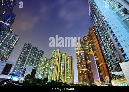 Luxury high rise apartments in Kowloon, Hong Kong SAR, China. - Stock Photo