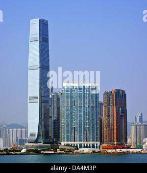 High Rises in Kowloon, Hong Kong SAR, China. - Stock Photo