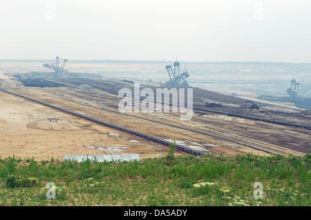 Tagebau (surface coal mine) Garzweiler, Germany. - Stock Photo