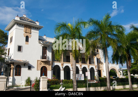 Puerto Rico, Caribbean, Greater Antilles, Antilles, San Juan, restaurant, building, construction, architecture, - Stock Photo