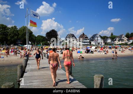 Travemuende beach, Baltic Sea Coast, Schleswig-Holstein,  Germany, Europe - Stock Photo