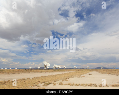 The Very Large Array; Karl G. Jansky Radio Astronomy Observatory on the Plains of San Agustin, near Socorro, New - Stock Photo