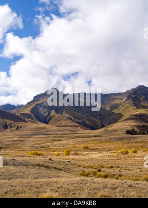 Scenes from the Von River Valley on a beautiful autumn day; Otago, New Zealand - Stock Photo