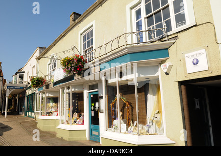 View of Thornbury High Street shop Heritage in the traditional South Gloucestershire market town - Stock Photo