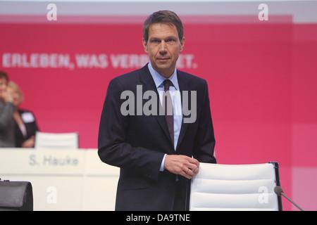 Deutsche Telekom CEO Rene Obermann, Hauptversammlung, Lanxess Arena, Koeln, 17.05.2013. - Stock Photo