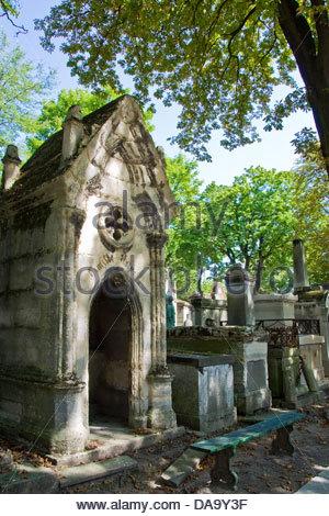 France,Ile de France,Paris,Pere Lachaise cemetery - Stock Photo