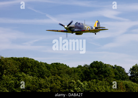 A 1941 Hawker sea Hurricane flying low at an air display, England - Stock Photo