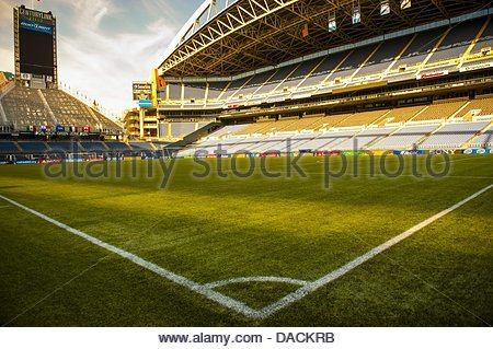 Seattle, Washington, USA. 10th July, 2013. Seattle's CenturyLink Field, site of Thursday's CONCACAF Gold Cup soccer - Stock Photo