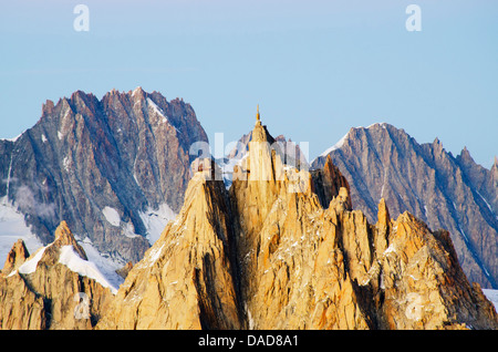 Aiguille du Midi cable car station, Haute-Savoie, French Alps, France, Europe - Stock Photo