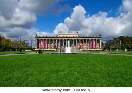 Germany, Berlin, View of Altes Museum at Lustgarten - Stock Photo