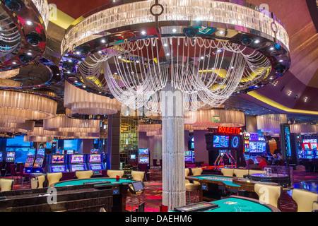 The casino of Cosmopolitan hotel on February 26 2013 in Las Vegas. - Stock Photo