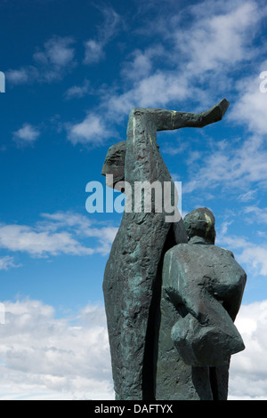 Hofn Monument - Hofn, South-East Iceland - Stock Photo