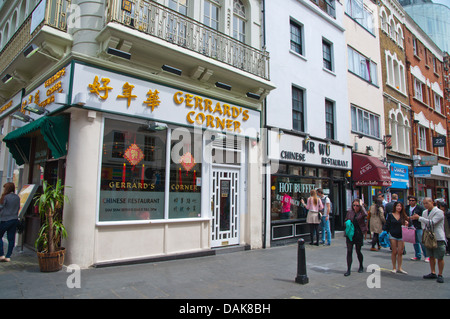 Gerrard street Chinatown central London England Britain UK Europe - Stock Photo