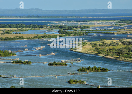 African fishtraps made of reeds at Kosi bay, Natal South Africa - Stock Photo
