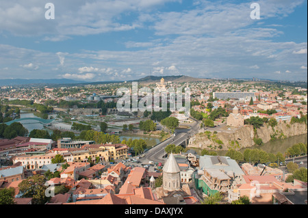 Tbilisi city panorama, Georgia - Stock Photo