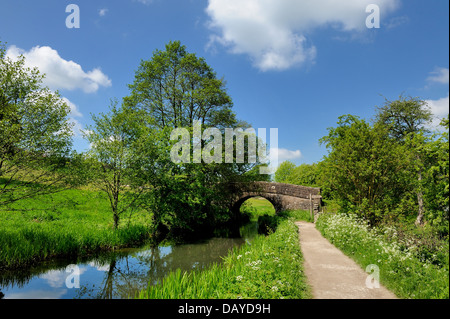 The Cromford canal Derbyshire England uk - Stock Photo