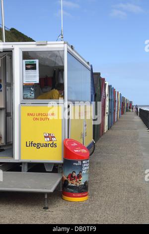 lifeguard post mundesley on the norfolk coast - Stock Photo