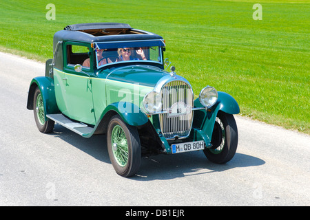 Hotchkiss Coupe Antibes, built at year 1930, photo taken on July 12, 2013 in Landsberg, Germany - Stock Photo
