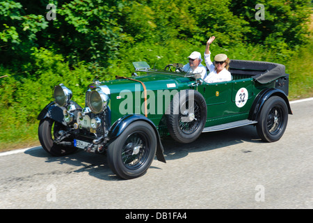 Lagonda open Tourer T5, built at year 1930, photo taken on July 13, 2013 in Landsberg, Germany - Stock Photo