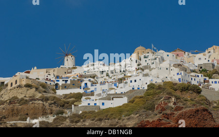 Oia village at Santorini island, Greece - Stock Photo