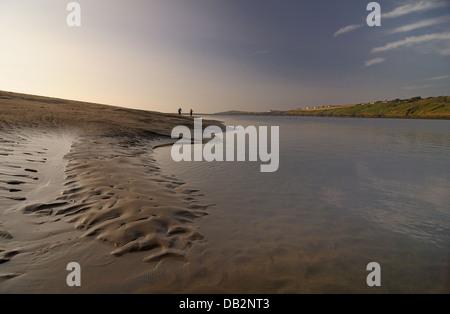 Patterns in sand river teifi estuary poppit sands st dogmaels pembrokeshire - Stock Photo