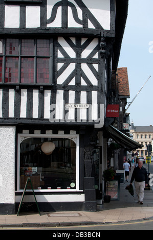 Ely Street, Stratford-upon-Avon, UK - Stock Photo