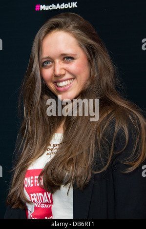 Daisy Head arrives for the UK Premiere of 'Much Ado About Nothing', London, Tuesday, June. 11, 2013. - Stock Photo