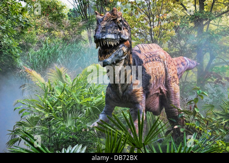 Metriacanthosaurus (which means 'moderately spined') dinosaur from the late Jurassic period. - Stock Photo
