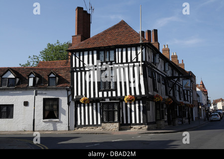 The Falcon Inn on Chapel street in Stratford Upon Avon - Stock Photo