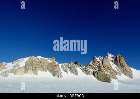Europe, France, French Alps, Haute-Savoie, Chamonix, Aiguille du Midi - Stock Photo