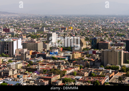Wide angle cityscape of Mexico City - Stock Photo