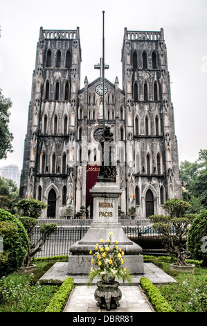 HANOI, Vietnam - St. Joseph's Cathedral is a church on Nha Tho (Church) Street in the Hoan Kiem District of Hanoi, - Stock Photo