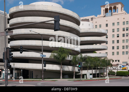 parking garage in downtown Fresno, California - Stock Photo