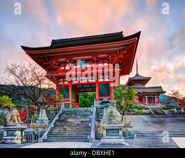Kiyomizu-dera Temple Gate in Kyoto, Japan in the morning. - Stock Photo