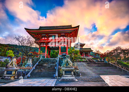 Kiyomizu-dera Temple Gate in Kyoto, Japan in the morning. - Stock Photo