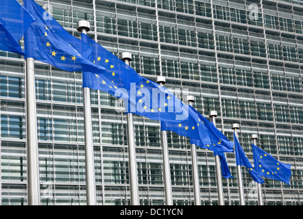 European parliament building, Brussels, Belgium - Stock Photo