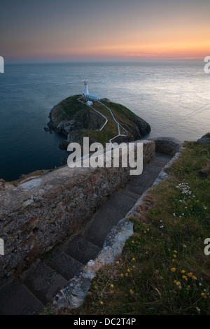 South Stack Lighthouse, Anglesey, Wales - Stock Photo