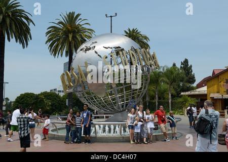 Universal Studios entrance, Hollywood, CA - Stock Photo