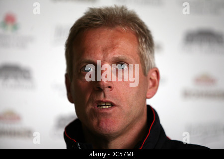 Lancashire County Cricket Club photocall April 6th 2009. Press conference. Peter Moores. Picture: Chris Bull - Stock Photo