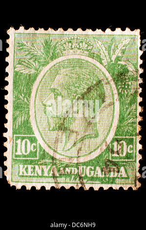 Kenya Uganda postage stamp - Stock Photo